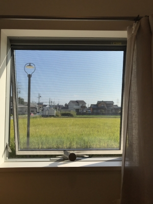 ショールーム小窓からの眺め