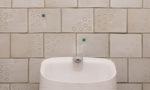 日進市 耐震リフォーム:トイレにお手製タイル