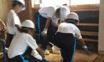 中学生の職場体験:清掃