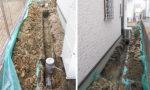 配管の延長作業:二階の水廻りを増設