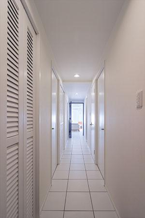 大容量な玄関収納のある、名古屋のマンションリノベーション。