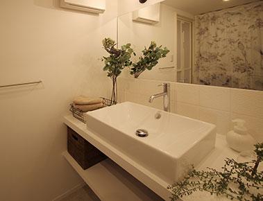 シンプルな洗面スペース。名古屋市のマンションリノベーション