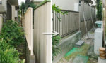 東郷町のフェンス取替工事