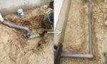 雨水管の接続工事