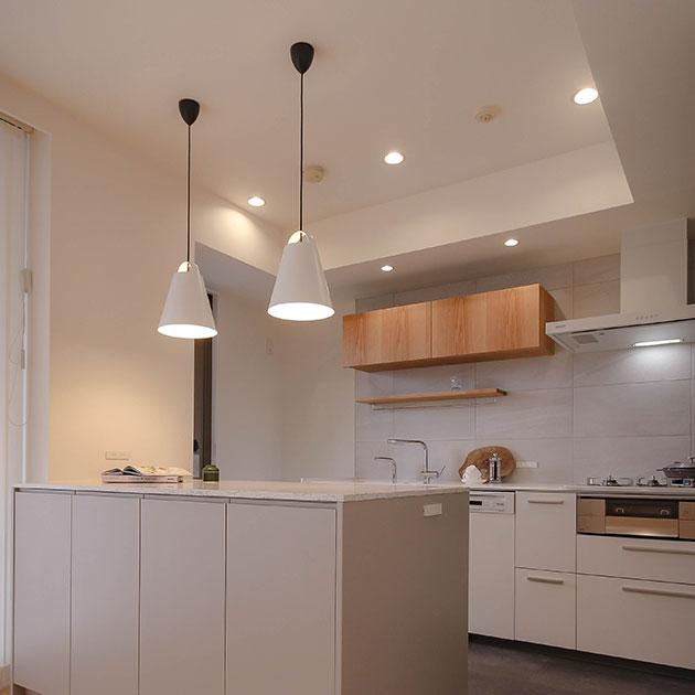 キッチンの天井を高くした